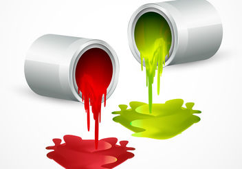 Paint Bucket Vectors with Colors - Free vector #199937