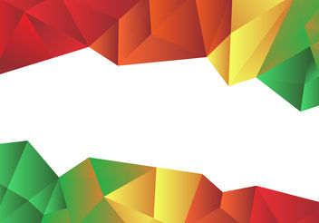 Colorful Low Poly Vector Background - Free vector #200007