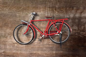 Retro red bicycle - Free image #200177