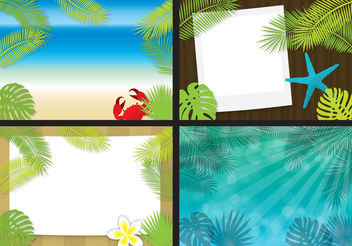 Beach Template Vectors - бесплатный vector #200207