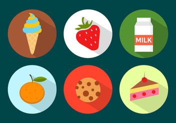 Food Icons - vector gratuit #200247