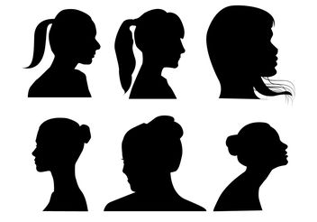 Women Profile Vectors - vector gratuit #200297
