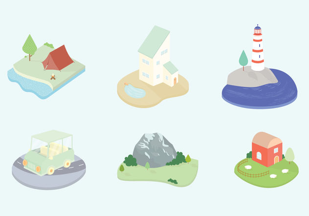 Landscape Vector Icons - Free vector #200317
