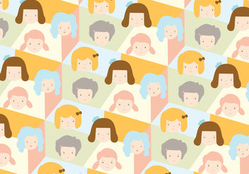 Girls pattern background - vector #200367 gratis