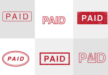 Paid Vector Stamps - Free vector #200447