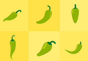 Green Hot Pepper - Kostenloses vector #200457