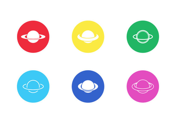 Saturn Vector Icon Pack Vol 3 - Kostenloses vector #200537
