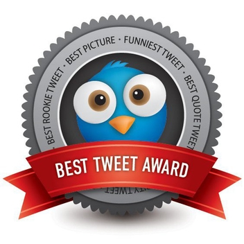 Award Badge Best Tweet - Free vector #200647