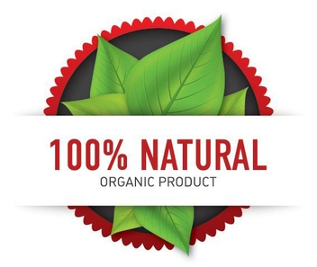 Organic Rounded Product Label - vector gratuit #200657