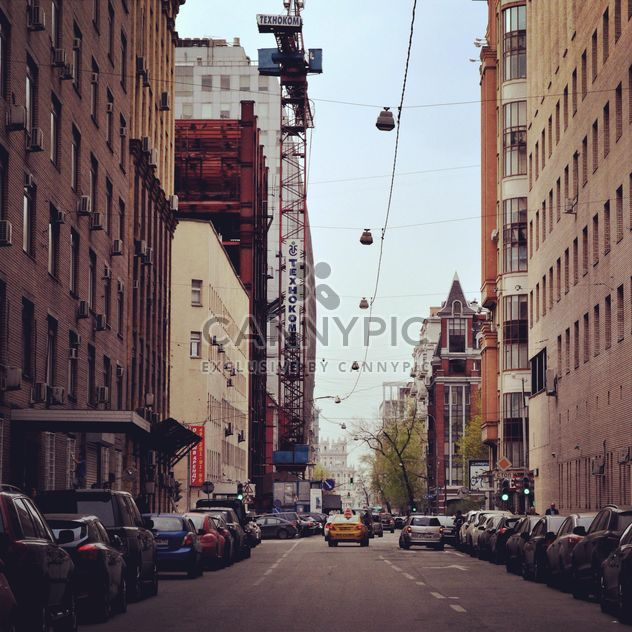 Architecture and transport in street of Moscow - Free image #200677