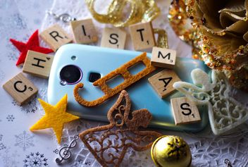 Christmas decoration of smartphone - image gratuit #200827