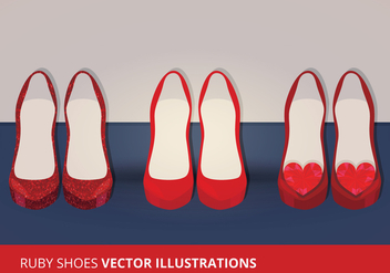 Vector Ruby Shoes - vector gratuit #200837