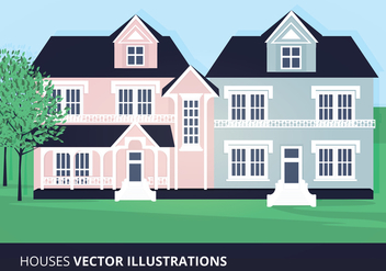 Houses Vector Illustration - vector gratuit #200857