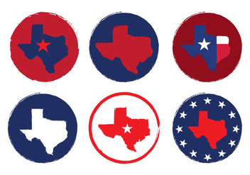 Texas Map Vectors - бесплатный vector #200897