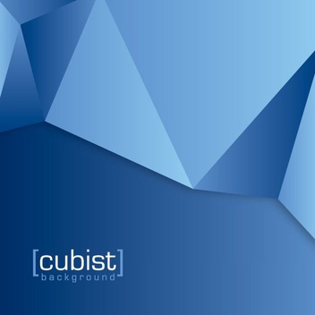 Abstract Cubes Blue Background - vector gratuit #200957