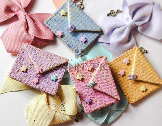 Cookies With A colorful Bows - бесплатный image #200997