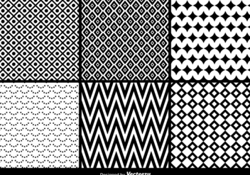Geometric seamless patterns - Free vector #201187