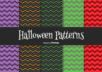 Halloween Pattern Set - vector gratuit #201227