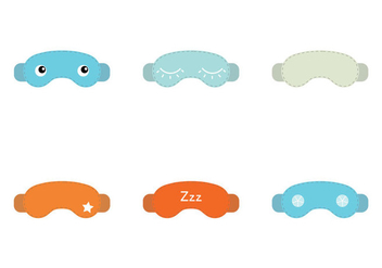 Free Sleep Mask Vector Illustration - Free vector #201247