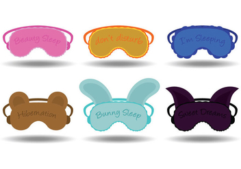 Sleep mask vectors - бесплатный vector #201287