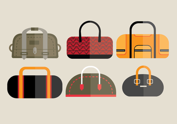 Duffle Bag Vector Set - Free vector #201297