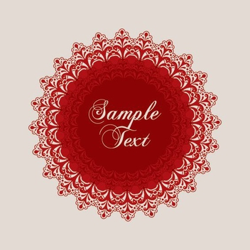 Decorative Red Ornament Message - Kostenloses vector #201377