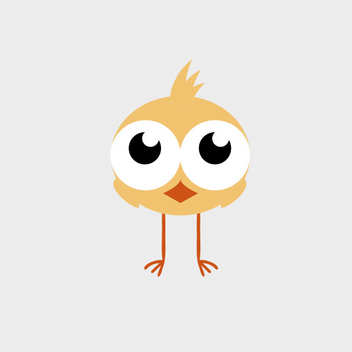 Cute Vector Chick - vector gratuit #201797