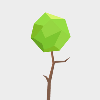 Free Vector Polygonal Tree - vector gratuit #201807