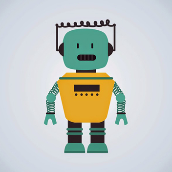 Free Drawn Robot Vector Character - бесплатный vector #201907