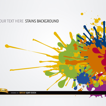 Free Vector Colorful Paint Splatter Background - бесплатный vector #201917