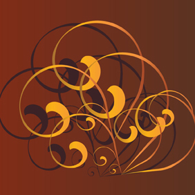 Free Brown Swirl Vector Ornament - бесплатный vector #201947