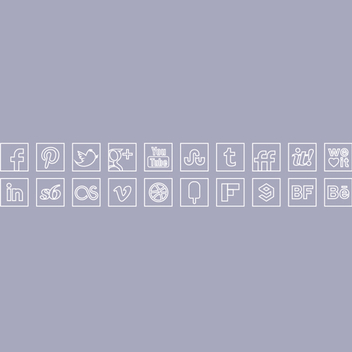 Free Vector White Line Colour Icons Set - Free vector #201977