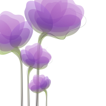 Abstract Purple Flowers - Free vector #202087