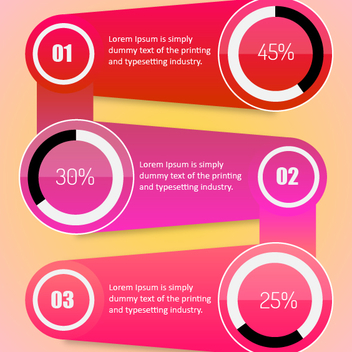 Free Vector Infographic Template - Free vector #202097