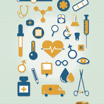 Hospital Icon Vector Set - vector #202117 gratis