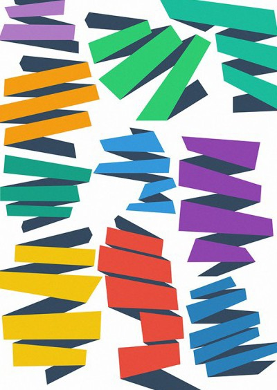 Flat Vector Ribbons - vector gratuit #202187