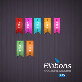 Free Vector Ribbons - Free vector #202227