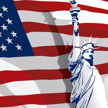 Free Vector Independence Day with Liberty Statue - бесплатный vector #202257