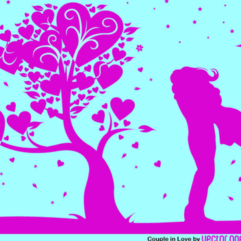 Free Vector Valentine's Night Embrace - Free vector #202277