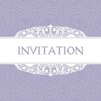 Free Vector Purple Invitation - Free vector #202337