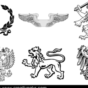 Free Vector Heraldic Elements - Kostenloses vector #202387
