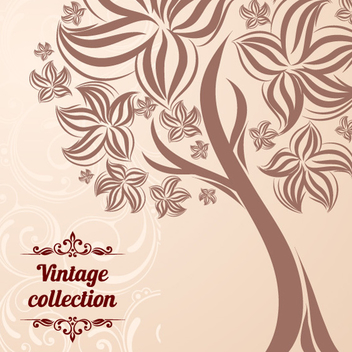 Free Abstract Vintage Tree Vector - Kostenloses vector #202417