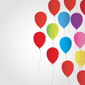 Free Balloon Vector Background - Free vector #202497