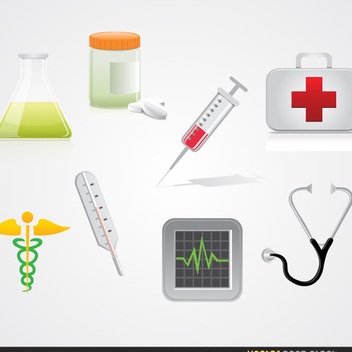Free Medical Vector Icon Pack - бесплатный vector #202547