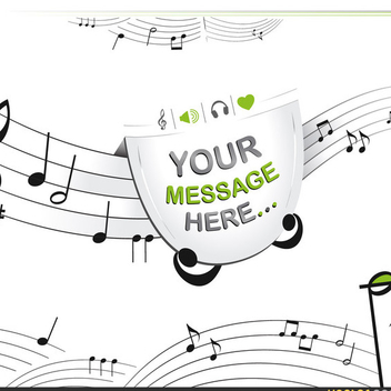 Free Musical Notes Vector - vector #202557 gratis