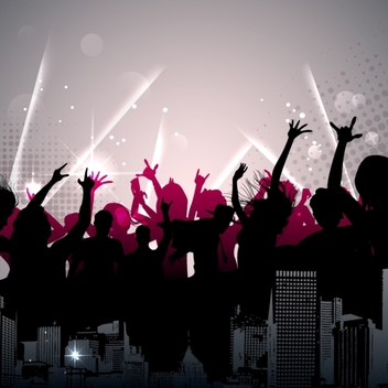 Free Urban Dance Party Vector - Free vector #202567