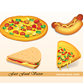 Free Vector Fast Food Pack - Kostenloses vector #202617