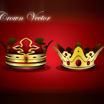Free Vector Crown With Rubies - Kostenloses vector #202637