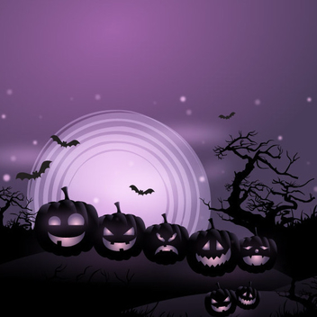 Free Vector Halloween Pumpkins Background - Free vector #202647