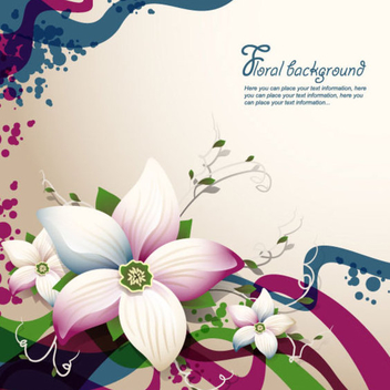 Free Vector Flower Background - Free vector #202737